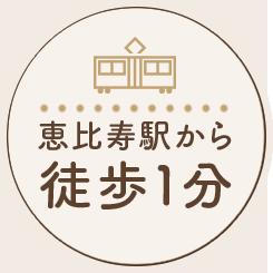 恵比寿駅から徒歩1分